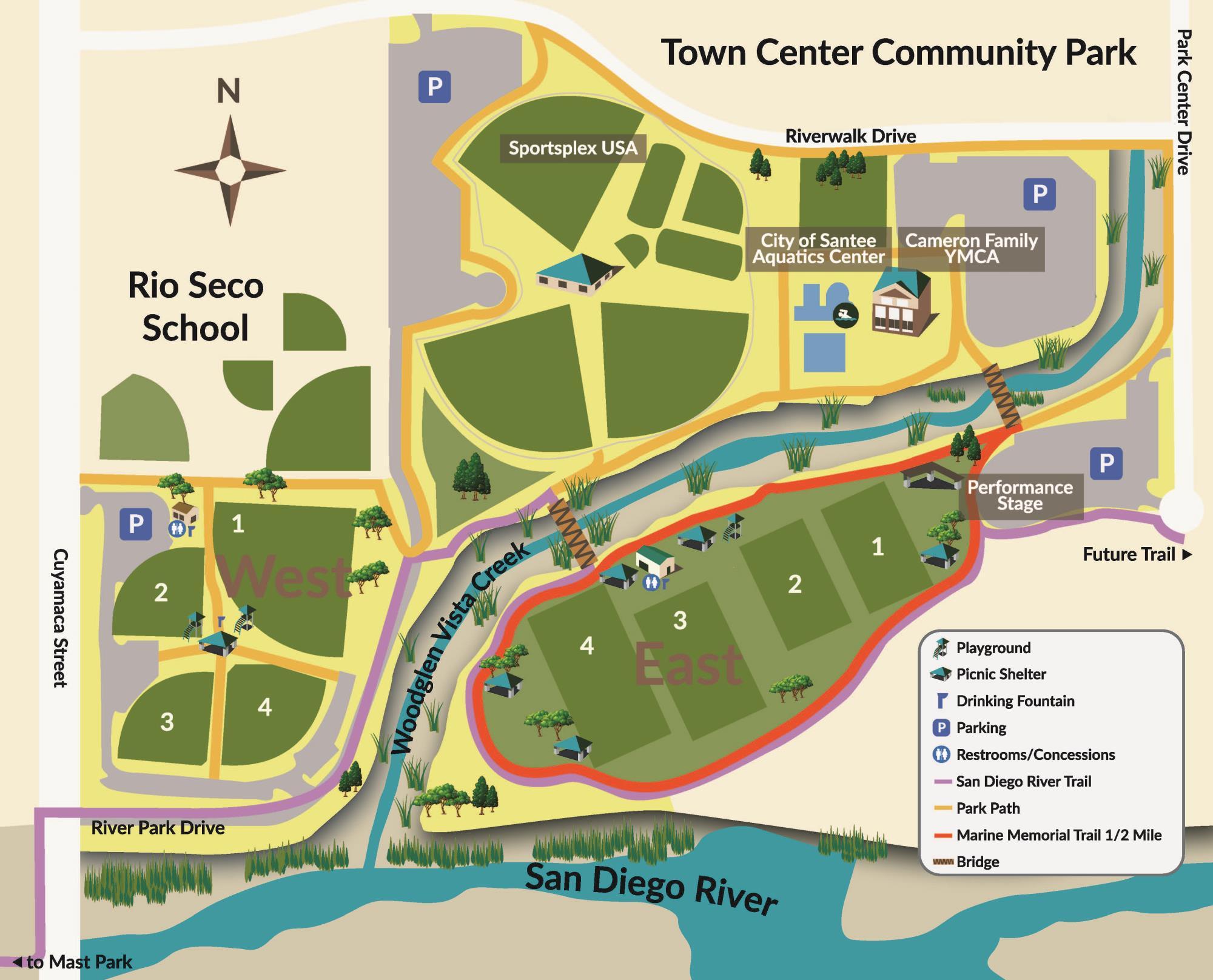 Town Center Community Park East | Facility Directory | Santee, CA